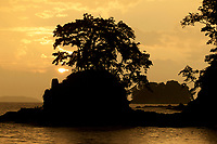 Sunset over Coiba National Park from Pixvae