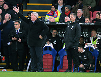 Football - 2019 / 2020 Premier League - Crystal Palace vs. Newcastle United<br /> <br /> Newcastle Manager, Steve Bruce with Coach, Stephen Clemence, at Selhurst Park.<br /> <br /> COLORSPORT/ANDREW COWIE