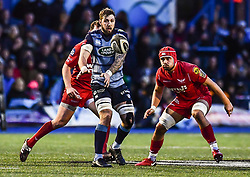 Cardiff Blues' Josh Turnbull in action - Mandatory by-line: Craig Thomas/Replay images - 31/12/2017 - RUGBY - Cardiff Arms Park - Cardiff , Wales - Blues v Scarlets - Guinness Pro 14