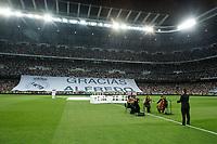 Real Madrid´s  and Atletico de Madrid´s  during a silent minute in honour of Alfredo di Estefano 2014 Supercopa de España `Spain Supercup´ at Santiago Bernabeu stadium. August 19, 2014. (ALTERPHOTOS/Victor Blanco)