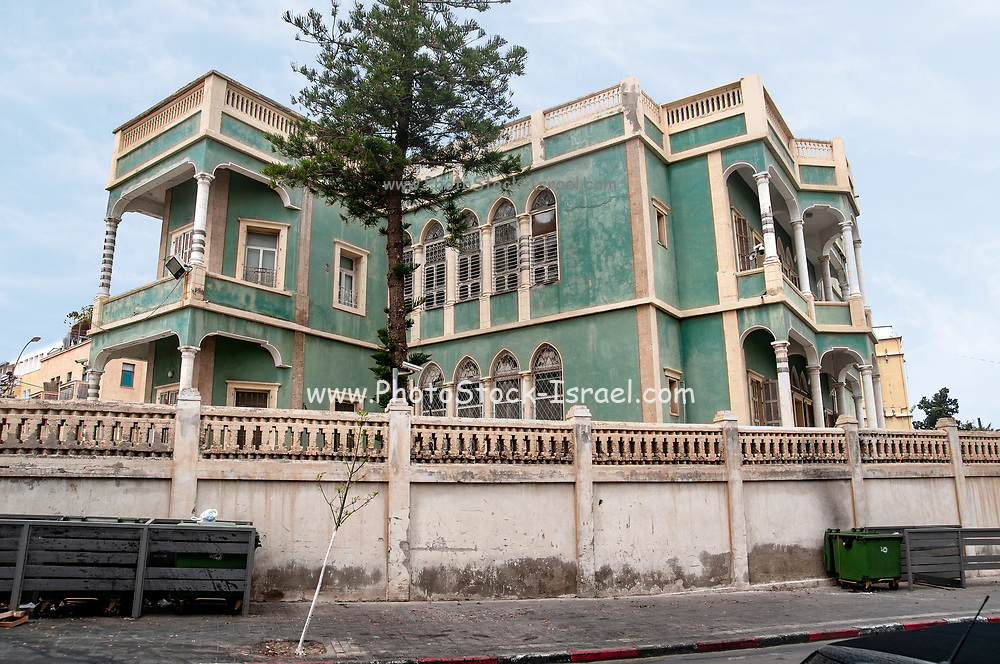 The Green House in Yefet and Shivtei Israel Streets, Jaffa, Israel The original owners fled Palestine in 1948. Now it is used as the IDF military courthouse