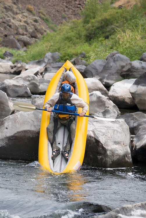 """Doing a """"seal launch"""" off a boulder on Oregon's Crooked River."""