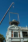 Installation of a new belvedere on the Guildford Hotel, February 27, 2016 . <br />