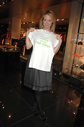 KATE REARDON at a lunch to celebrate the launch of the Top Tips for Girls website (toptips.com) founded by Kate Reardon held at Armani, Brompton Road, London on 5th March 2007.<br />