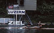 Lucerne, SWITZERLAND GER M2X 1992 FISA World Cup Regatta, Lucerne. Lake Rotsee.  [Mandatory Credit: Peter Spurrier: Intersport Images] 1992 Lucerne International Regatta and World Cup, Switzerland