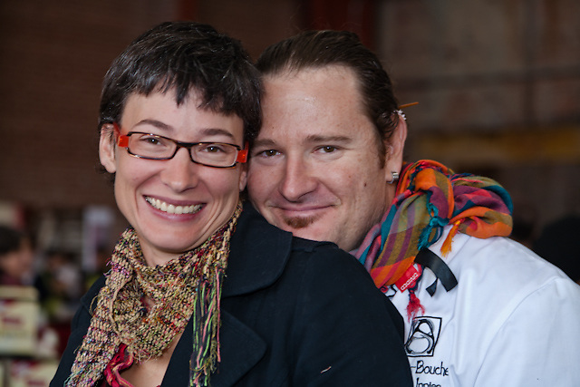 Chef Jason Inniss and Hanna Jacobs at the Picnic at the Brick Works October 4,  2009