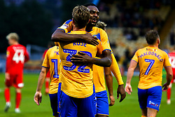 Danny Rose of Mansfield Town celebrates his second goal with Hayden White of Mansfield Town - Mandatory by-line: Ryan Crockett/JMP - 20/08/2019 - FOOTBALL - One Call Stadium - Mansfield, England - Mansfield Town v Leyton Orient - Sky Bet League Two