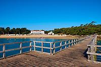 France, Vendée (85), Noirmoutier, le bord de mer au Bois de la Chaise, la plage des Dames  // France, Vendée, Noirmoutier, Dames beach at Bois de la Chaise