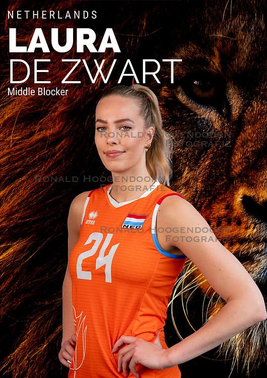 Laura de Zwart of Netherlands, Photoshoot selection of Orange women's volleybal team season 2021on may 12, 2021 in Arnhem, Netherlands (Photo by RHF Agency/Ronald Hoogendoorn)