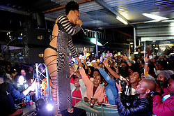 Cape Town-180610 Zodwa Wabantu  perfoming at Chippa's Place paarl Cape town during the afro on tour  Picture:Ayanda Ndamane/African News Agency/ANA