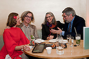 DONATE WENDERS; WIM  WENDERS; ; LESLIE ABEL; JOHN LANDIS;;,  dinner hosted by Nobu Berkeley Street to celebrate Wim Wender's latest exhibition. Places Strange and quiet. Exhibition of photos by Wim Wenders. Haunch of Venison. 14 April 2011.  -DO NOT ARCHIVE-© Copyright Photograph by Dafydd Jones. 248 Clapham Rd. London SW9 0PZ. Tel 0207 820 0771. www.dafjones.com.