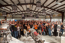 """The industry party for the Motorcycles as Art show titled """"The Naked Truth"""" at the Buffalo Chip. SD, USA.  August 2, 2015.  Photography ©2015 Michael Lichter."""