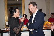 AMANDA HARLECH; TOM DIXON,  VIP room during the RA summer exhibition party. Royal Academy, Piccadilly. London. 5 June 2013.