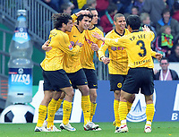 Fotball<br /> Tyskland<br /> Foto: Witters/Digitalsport<br /> NORWAY ONLY<br /> <br /> 18.10.2008<br /> <br /> 1:2 Jubel Dortmund nach Tor von Mats Hummels, v.l. Nelson Valdez, Mats Hummels, Mohamed Zidan, Young-Pyo Lee<br /> Bundesliga Werder Bremen - Borussia Dortmund