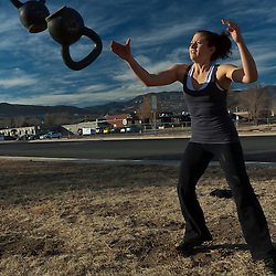 Venassa plays Kettlebell catch, Crossfit image, picture, photo, photography of health, elite, exercise, training, workouts, WODs, taken at Progressive Fitness CrossFit,Colorado Springs, Colorado, USA.