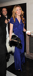 CAT DEELEY at a dinner hosted by jewellers Damiani at The Connaught Hotel, London on 3rd February 2010.