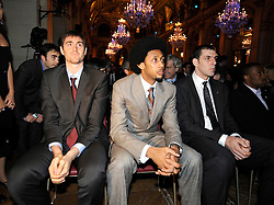 Erazem Lorbek of Barcelona (L) during the Euroleague Basketball 2009-2010 Season Awards Ceremony at Hotel de Ville on May 8, 2010 in Paris, France. (Photo by Nebojsa Parausic / Sportida)