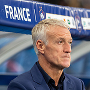 PARIS, FRANCE - September 10:  Didier Deschamps head coach of France during the France V Andorra, UEFA European Championship 2020 Qualifying match at Stade de France on September 10th 2019 in Paris, France (Photo by Tim Clayton/Corbis via Getty Images)