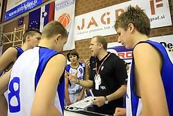 Trener pionirjev Tadej de Gleria na Dnevu slovenske moske kosarke, 26. decembra 2008, na Planini, Kranj, Slovenija.(Photo by Vid Ponikvar / Sportida)