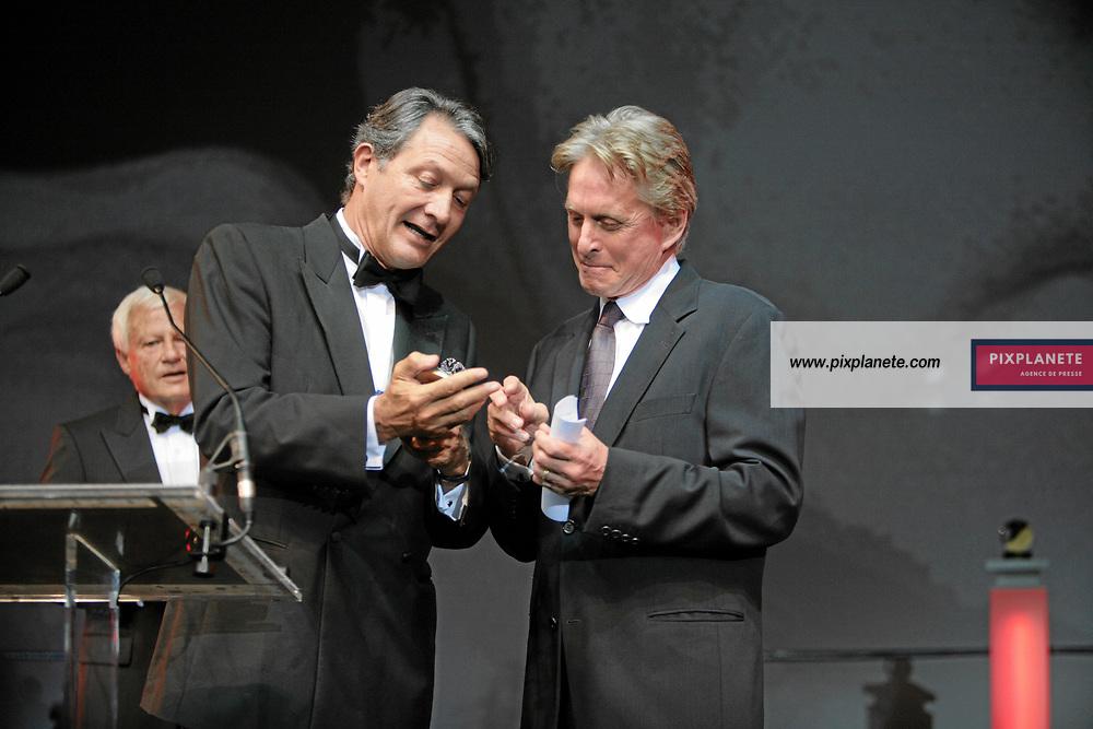 Michael Douglas et Philippe Augier - 33 ème Festival du Cinéma Américain de Deauville - Soirée d'ouverture - 31/8/2007 - JSB / PixPlanete