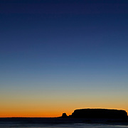 Otter Rock at sunset, Depoe Bay, Oregon, Lincoln County, USA