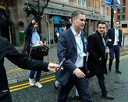 © Licensed to London News Pictures. <br /> 01/10/2017 <br /> Manchester, UK.  <br /> <br /> David Gauke MP speaks to media as he attends the Conservative party Conference which will be held over four days in the Manchester Central Convention Complex.<br /> The conference offered a schedule of speeches, receptions and fringe events giving a chance for party members and the public to learn about party ideas and policies for the year ahead.<br /> <br /> Photo credit: Ian Forsyth/LNP