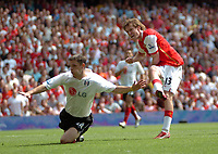 Photo: Tony Oudot. <br /> Arsenal v Fulham. Barclays Premiership. 12/08/2007. <br /> Alexander Hleb scores the winning goal for Arsenal