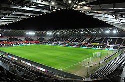 General View of the Liberty Stadium- Mandatory by-line: Nizaam Jones/JMP- 17/01/2018 - FOOTBALL - Liberty Stadium- Swansea, Wales - Swansea City v Wolverhampton Wanderers - Emirates FA Cup third round proper