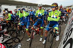 NOVAK Domen of Slovenia, PIBERNIK Luka of Slovenia, TRATNIK Jan of Slovenia, MEZGEC Luka of Slovenia, POGACAR Tadej of Slovenia, POLANC Jan of Slovenia, BRAJKOVIC Janez of Slovenia and ROGLIC Primoz of Slovenia during Men Elite Road Race at UCI Road World Championship 2020, on September 27, 2020 in Imola, Italy. Photo by Vid Ponikvar / Sportida