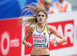Konstanze Klosterhalfen of Germany competes in the Women's 1500 metres heats on day one of the 2017 European Athletics Indoor Championships at the Kombank Arena on March 3, 2017 in Belgrade, Serbia. Photo by Vid Ponikvar / Sportida