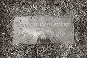 Gordon MacQuarrie grave marker in the Wisconsin Memorial Park, Milwaukee.