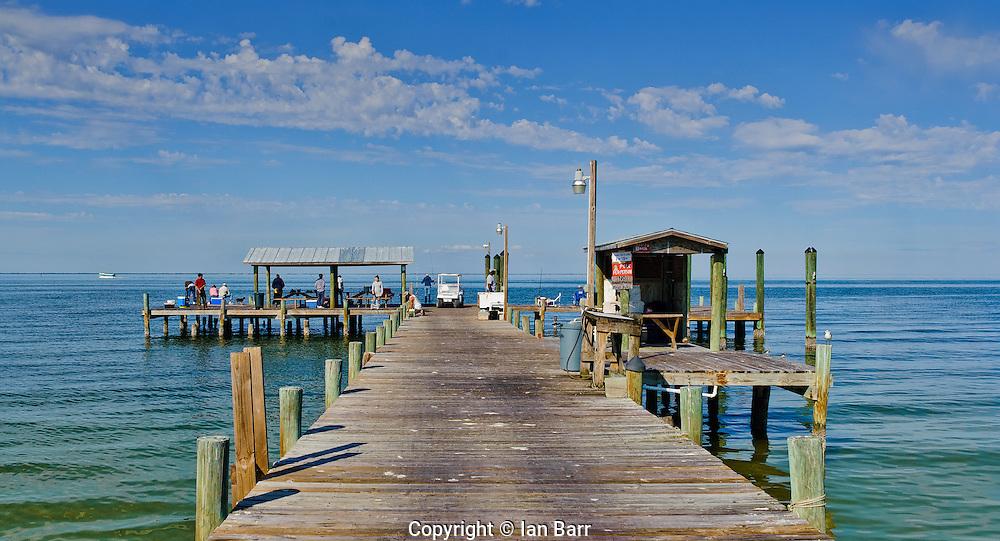 Fishing Pier on Pine Island, Florida's Gulf Coast.