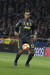 February 21, 2019 - Madrid, Madrid, Spain - Alex Sandro of Juventus  during UEFA Champions League round of 16 soccer match between Atletico Madrid and Juventus at Wanda Metropolitano Stadium in Madrid, Spain on February 20, 2019 Photo: Oscar Gonzalez/NurPhoto  (Credit Image: © Oscar Gonzalez/NurPhoto via ZUMA Press)