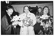 Amy Tan, Walter Mosley, Sharon Olds, Nicole Aragi, Pen dinner 1993© Copyright Photograph by Dafydd Jones 66 Stockwell Park Rd. London SW9 0DA Tel 020 7733 0108 www.dafjones.com