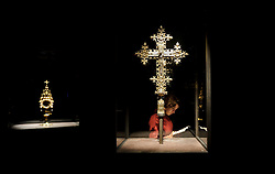 Kolumba Museum - Cologne, Germany - Processional Cross and silver gilt Monstrance, Cologne ca. 1400 AD. (Photo © Jock Fistick)