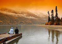 Kusawa Lake, Yukon, in the fall