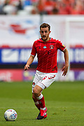 Charlton Athletic defender Tom Lockyer (5) on the ball during the EFL Sky Bet Championship match between Charlton Athletic and Reading at The Valley, London, England on 11 July 2020.