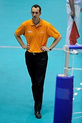 29-05-2010 VOLLEYBAL: EK KWALIFICATIE MACEDONIE - NEDERLAND: ROTTERDAM<br /> Nederland wint met 3-0 van Macedonie en plaatst zich voor de volgende ronde / Peter Blange<br /> ©2010-WWW.FOTOHOOGENDOORN.NL