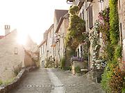 Residential street in Beynac-Et-Cazenac, Dordogne, France