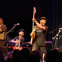 Marcus Miller performing with his band at Cosmopolite, Oslo, Nov. 13, 2015.