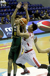 QUEZON Quezon City, May 13, 2017  Diftha Pratama of Indonesia (R) competes against Choo Wei Hong of Malaysia (L) during their match in the 2017 SEABA senior men's championship tournament in Quezon City, the Philippines, May 13, 2017. Indonesia won 63-42. (Credit Image: © Rouelle Umali/Xinhua via ZUMA Wire)