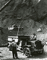 1924 The Union Rock Quarry, in Brush Canyon, which later became the Bronson Caves at the northern end of Bronson Ave.