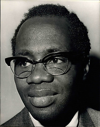 Feb. 25, 1966 - Nkrumah Swept From Power In Ghana. Dr. Busia Says He's Ready To Go Back. President Kwame Nkrumah was swept from power in Ghana yesterday, in a swift, efficient coup. Army leaders seized power whilst Nkrumah was being feted in Peking by the leaders of the Communist Party. In London last night, Dr. Kofi Busia, self-exiled leader of Ghana's Opposition, said he would consider going back as the country's prime minister if he is invited. Photo Shows:- Dr. Kofi Busia, pictured in London last night. (Credit Image: © Keystone Press Agency/Keystone USA via ZUMAPRESS.com)