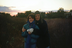 couple outdoors in winter