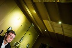 Marko Bitenc, Veliki mojster Velike lože SlovenijeMarko Bitenc, Veliki mojster Velike lože Slovenije during Exhibition of Freemasonry in Slovenia and press conference organised by Grand Lodge of Slovenia, on March 17, 2017 in Narodni muzej Slovenije, Ljubljana, Slovenia. Photo by Vid Ponikvar / Sportida