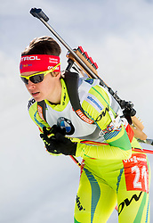 GREGORIN Teja of Slovenia competes during Women 10 km Pursuit competition of the e.on IBU Biathlon World Cup on Saturday, March 8, 2014 in Pokljuka, Slovenia. Photo by Vid Ponikvar / Sportida