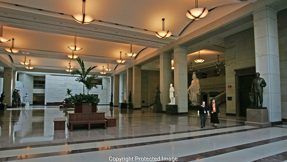The  Emancipation Hall in the Capitol Visitors Center.  Photograph by Dennis Brack