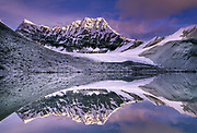 Mingo valley peak reflection, Barun Makalu National Park, Nepal, Himalaya