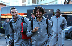 Mohamed Elneny of Arsenal arrives at The City Ground ahead of the FA Cup Third Round tie with Nottingham Forest - Mandatory by-line: Robbie Stephenson/JMP - 07/01/2018 - FOOTBALL - The City Ground - Nottingham, England - Nottingham Forest v Arsenal - Emirates FA Cup third round proper
