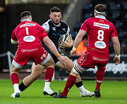 Tom Botha of Ospreys<br /> <br /> Photographer Simon King/Replay Images<br /> <br /> Guinness PRO14 Round 11 - Ospreys v Scarlets - Saturday 22nd December 2018 - Liberty Stadium - Swansea<br /> <br /> World Copyright © Replay Images . All rights reserved. info@replayimages.co.uk - http://replayimages.co.uk